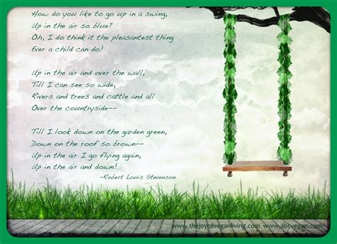 robert louis stevenson the swing the swing joy of vegan living