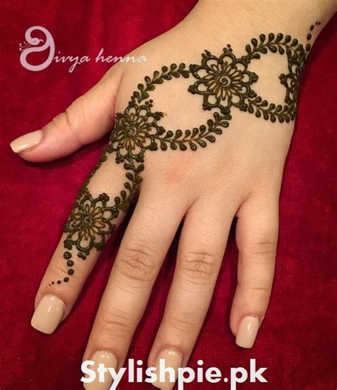 Design Henna Simple 2017 | simple mehndi design for eid 2017 stylishpie
