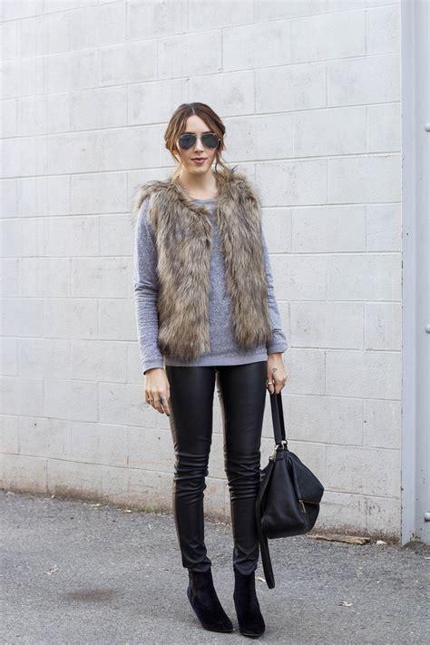 with fur vest statement fur vest ideas for trendier