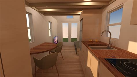 Back Of House Kitchen by Redwood Valley 24 Tiny House Plans Tiny House Design