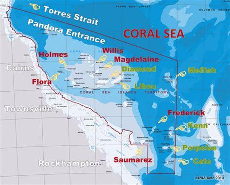 coral sea map coral sea sailing guide and jude