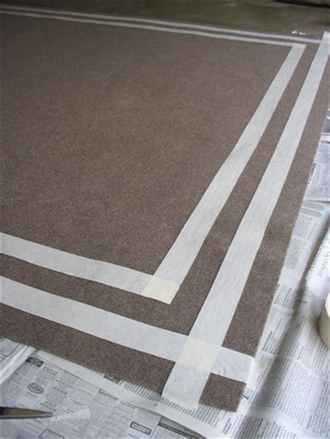 How To Paint An Indoor Outdoor Rug Diy Design Indoor How To Paint An Outdoor Rug