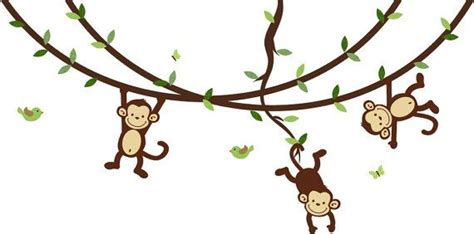 monkey swinging on a vine monkey wall decals swinging monkeys on vines by