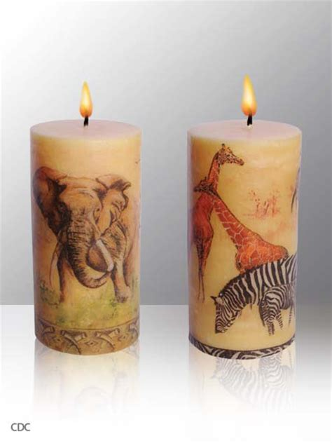 Decoupage Candles - sculpted to decoupage candles
