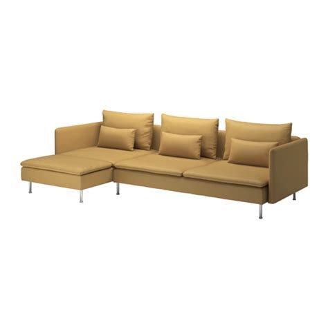 chaise lounge sofas s 214 derhamn sofa and chaise lounge samsta dark yellow ikea