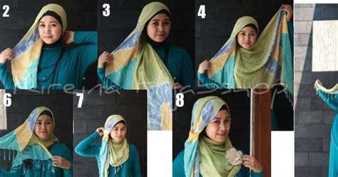 tutorial pashmina rayon cara pakai jilbab model memakai pashmina rayon dian