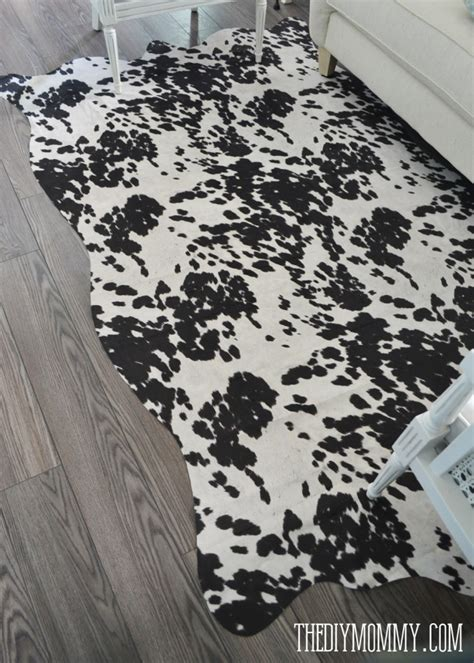 faux cowhide rugs make a faux cowhide rug for 50 the diy