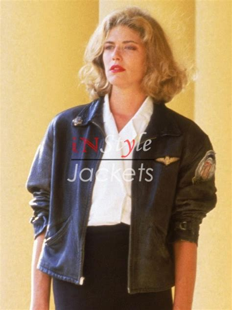 topgun women hairstyle charlie top gun 1986 movie bomber jacket instylejackets
