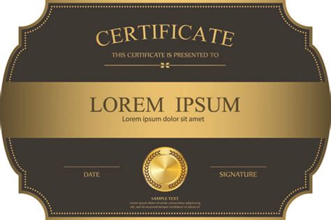 elegant certificate border free vector download 8 342