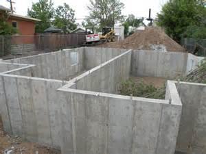 pouring the basement walls main foundation walls baker pads