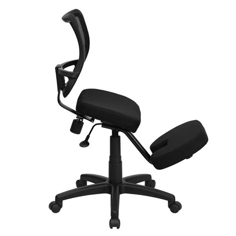 Ergonomic Chair Kneeling by Mobile Ergonomic Kneeling Swivel Task Chair With Back In