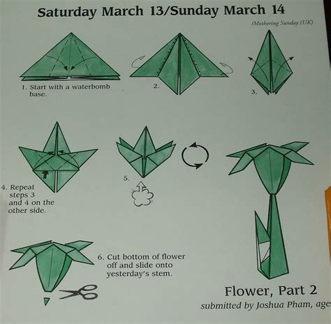 Origami Paper Flowers Step By Step - how to make origami flowers step by step