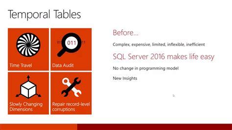 sql server temporal table sql server 2016 temporal tables explained