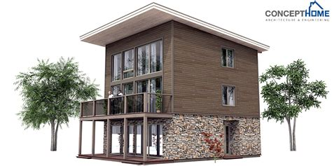 contemporary small home plans contemporary home plan ch99 to tiny lot with full floor