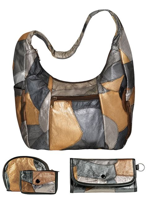 Leather Patchwork Bag - patchwork leather bag amerimark catalog