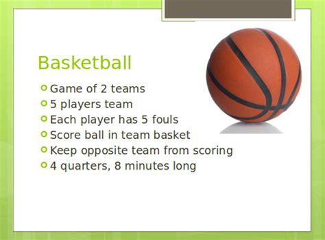 Sle Basketball Powerpoint Template 7 Free Documents Basketball Powerpoint Presentation