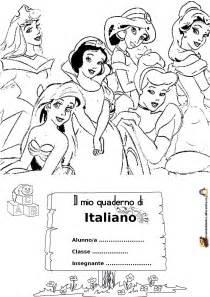 Copertina quaderno italiano da colorare mondo bimbo