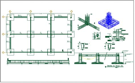 layout plan for foundation foundation plan layout detail view dwg file