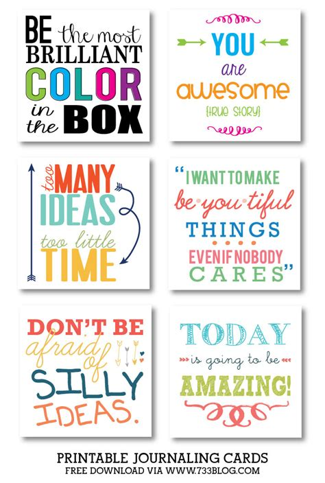 printable motivational quotes for students journaling cards inspiration made simple