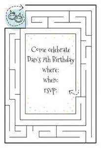 birthday maze free printable birthday invitation