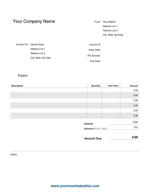 catering invoice template template free download speedy template