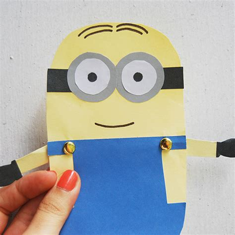 Easy Crafts To Make With Construction Paper - minion paper doll family crafts