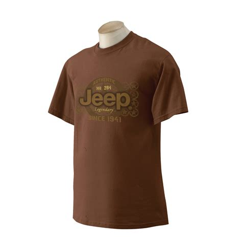 Jeep Clothing Authentic Stars Chestnut Tee Shirt Quadratec