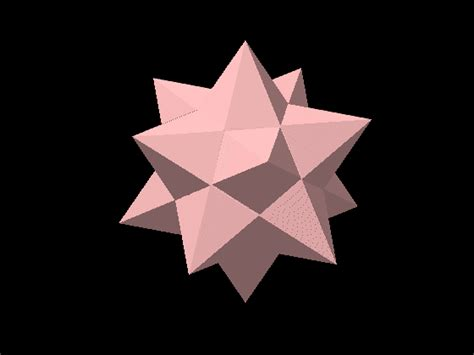 Image Gallery Stellated Icosahedron - image gallery stellated tetrahedron