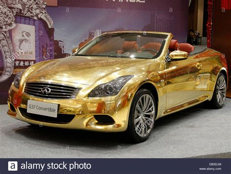 gold infiniti car the 24 carat gold plated infinity g37 convertible luxury