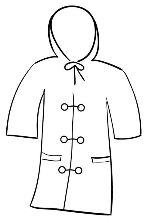 coloring page winter jacket winter jacket clipart black and white clipground