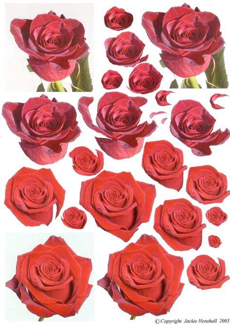 decoupage roses 3d decoupage sheet