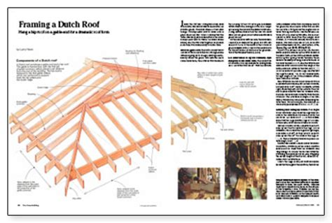framing a dutch roof fine homebuilding