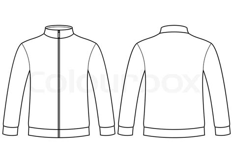 sports jacket template blank sweatshirt template stock vector colourbox