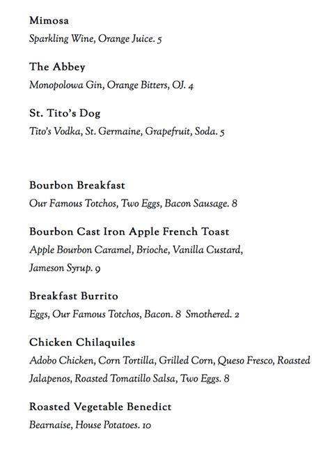 bourbon house menu bourbon house menu slc menu