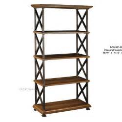 iron bookcase wood shelves american country furniture wrought iron wood shelf