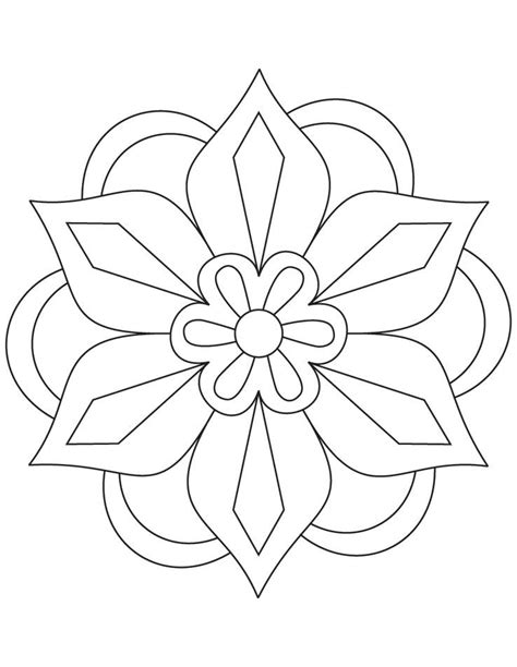 rangoli coloring pages printable diwali rangoli coloring pages flower rangoli coloring