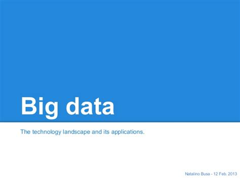 Big Data Landscape Big Data Landscape