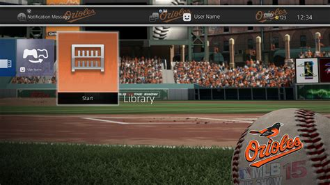 ps4 themes sports mlb 174 15 the show dynamic theme baltimore orioles on