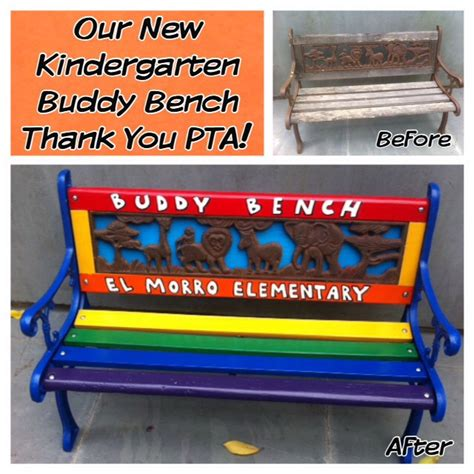 buddy bench at school el morro elementary school christian s buddy benchchristian s buddy bench