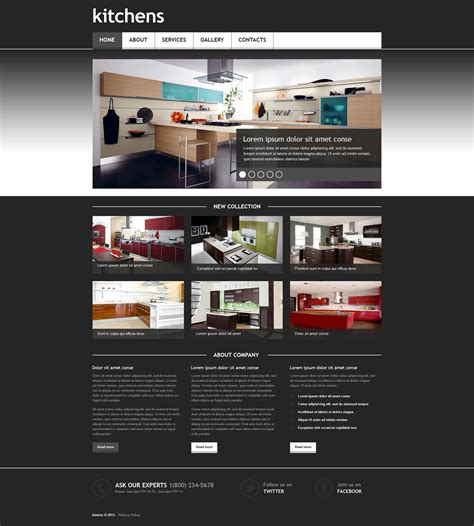 responsive design templates interior design responsive website template 45404