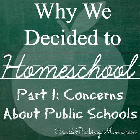 why we decided to homeschool part i concerns about public