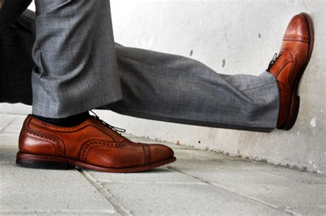 light brown wingtip shoes your gray suit s new brown shoes