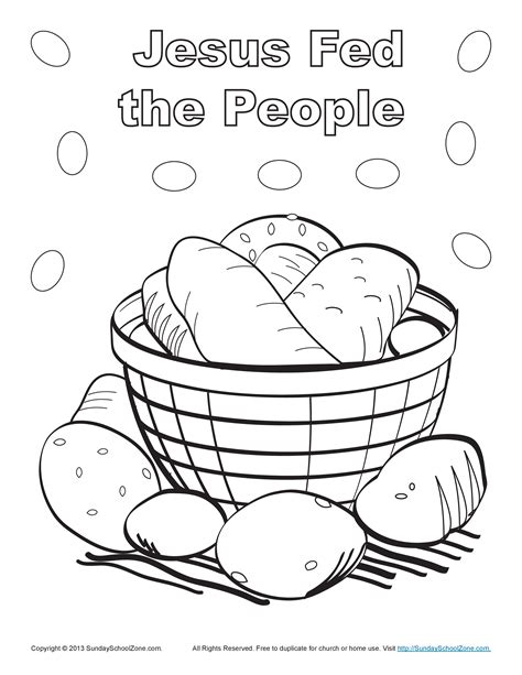 bible story coloring pages jesus feeds 5000 jesus fed the people bible coloring page children s