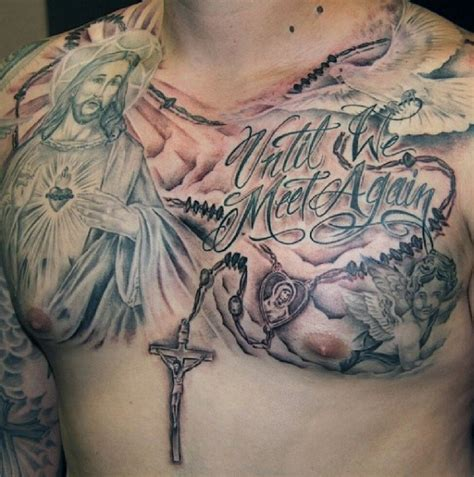 jesus rosary tattoo 100 rosary tattoos for men sacred prayer ink designs