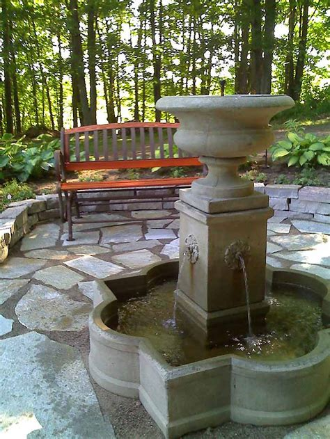 Deck Fountains by Replace Pond With And Flagstone Patio
