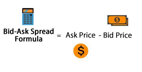 bid ask spread bid ask spread formula calculator excel template