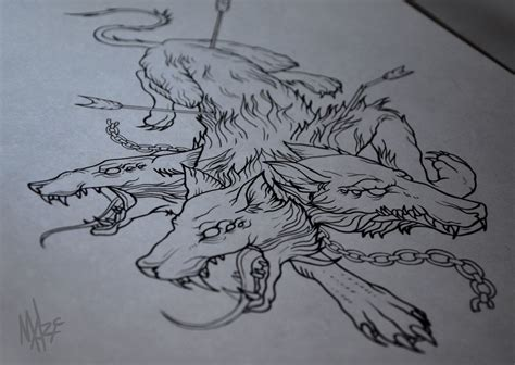 cerberus tattoo sketch by marymarylp on deviantart