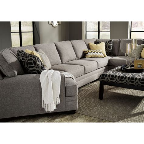 Benchcraft Cresson Contemporary 4 Piece Sectional W 4 Sectional Sofa
