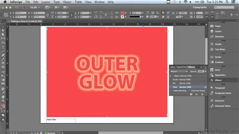 tutorial in design youtube adobe indesign cc tutorial glowing effects youtube