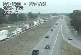 route 283 westbound re opens after crash   local news